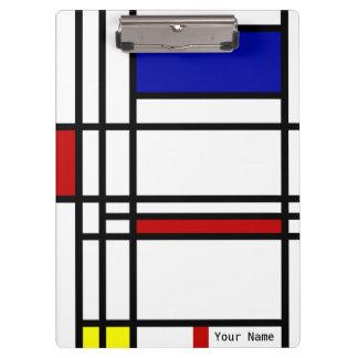 Mondrian Modern Art Clipboard
