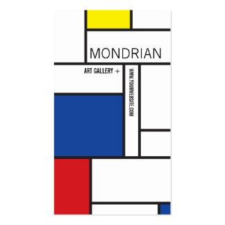 Mondrian Modern Art De Stijl Minimalist Abstract Business Cards