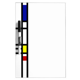Mondrian Modern Art Dry Erase Whiteboards