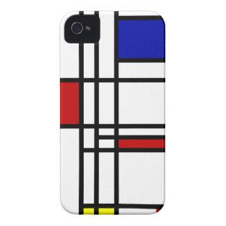 Mondrian Modern Art iPhone 4 Case-Mate Case
