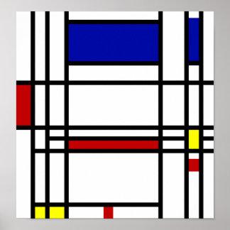 Mondrian Modern Art Poster