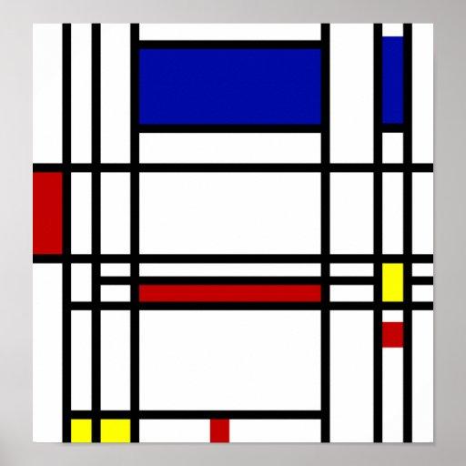 Mondrian Modern Art Posters