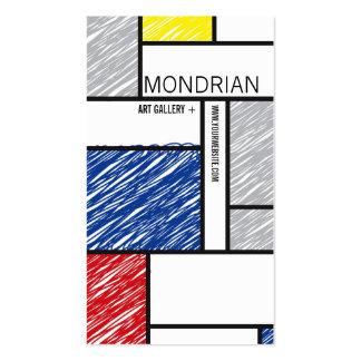 Mondrian Modern Simple Art Minimalist Scribbles Business Card