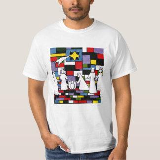 Mondrian Nativity - De Stijl - Neoplasticism T-Shirt