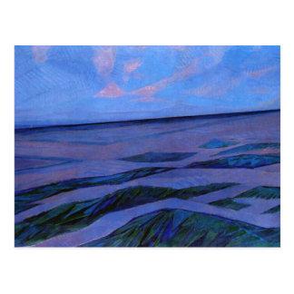 Mondrian painting, Dune Landscape Postcard