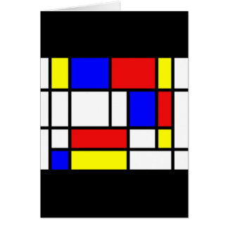 Mondrian - Primary Colors Card