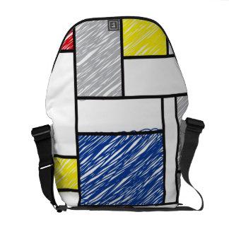 Mondrian Scribbles Minimalism De Stijl Art Bag Courier Bag