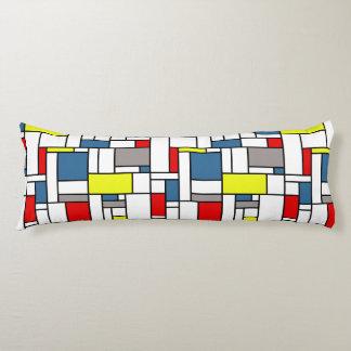 Mondrian style design body cushion