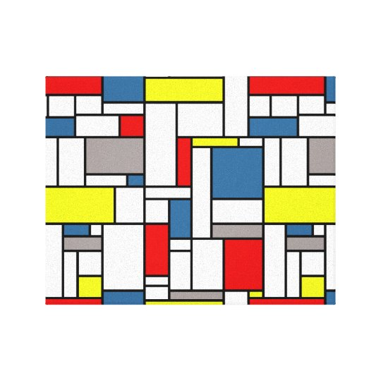 Mondrian style design canvas print