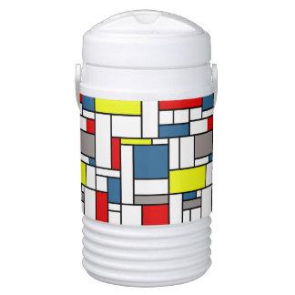 Mondrian style design cooler