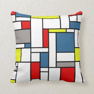 Mondrian style design cushion