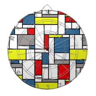 Mondrian style design dartboard