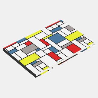 Mondrian style design guest book