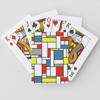 Mondrian style design playing cards