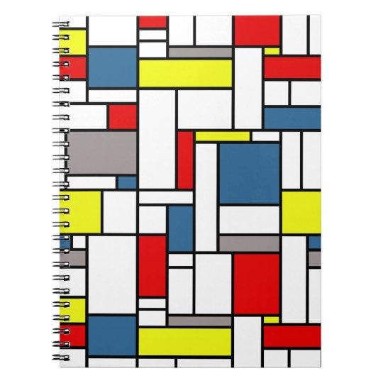 Mondrian style design spiral note book