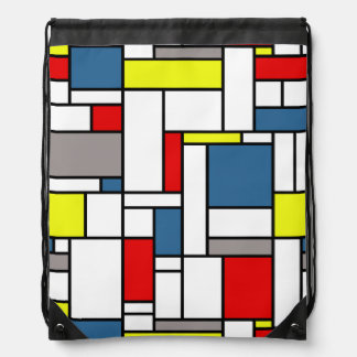 Mondrian style drawstring bag