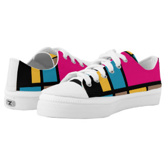 Mondrian style modern cool colours 1 printed shoes