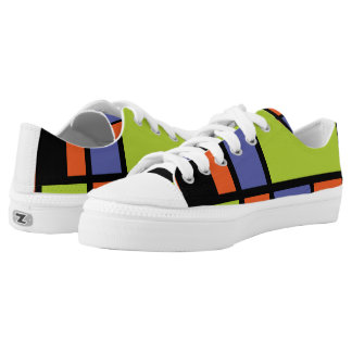 Mondrian style modern cool colours 2 printed shoes