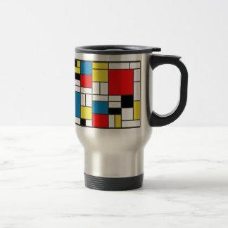 Mondrian Style Mugs