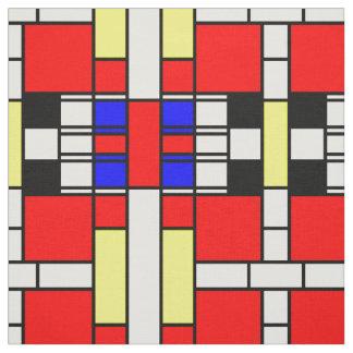 Mondrian style neo plasticism design fabric