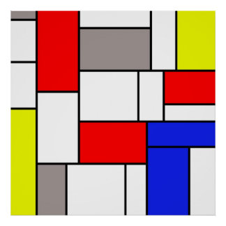 Mondrian style poster