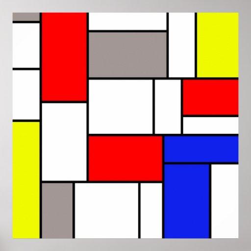 Mondrian style posters
