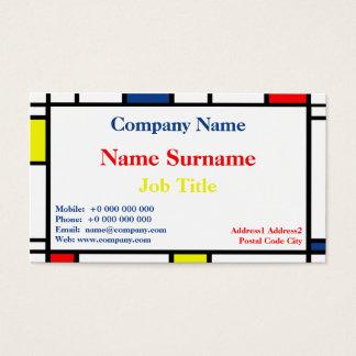 Mondrian Style Standard Business Card