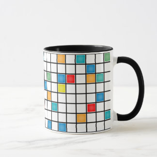 Mondrian Tiles Designer Coffee Mug