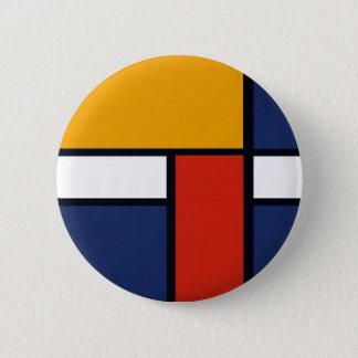 Mondrian Yorkie 6 Cm Round Badge