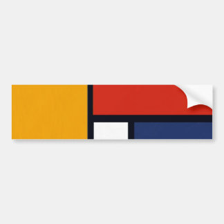 Mondrian Yorkie Bumper Sticker