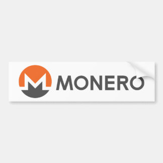 Monero Logo Symbol Crypto Coin Bumper Sticker