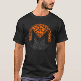 Monero Revolution Block Chain Cyrpto Word Shirt