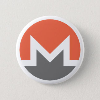 Monero (xmr) 6 cm round badge