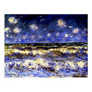 Monet - A Stormy Sea Postcard