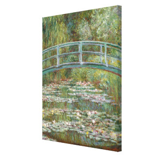 Monet Art Bridge over a Pond of Water Lilies Canvas Print