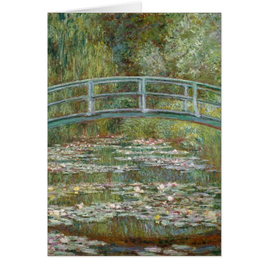Monet Art Bridge over a Pond of Water Lilies Card