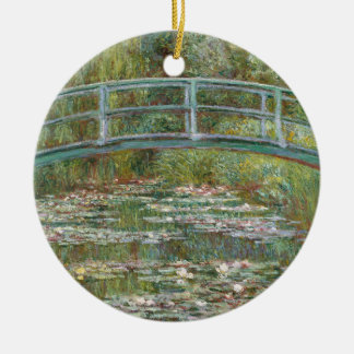 Monet Art Bridge over a Pond of Water Lilies Ceramic Ornament