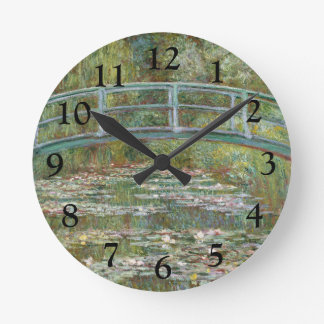Monet Art Bridge over a Pond of Water Lilies Clock