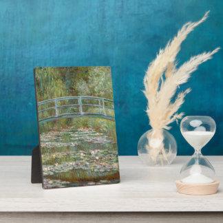 Monet Art Bridge over a Pond of Water Lilies Display Plaque