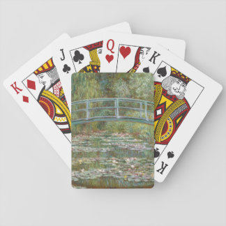 Monet Art Bridge over a Pond of Water Lilies Playing Cards