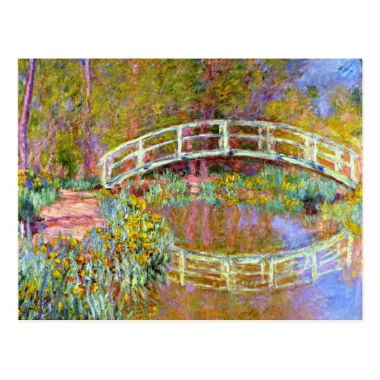 Monet - Bridge in Monet's Garden Postcard