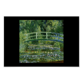 Monet bridge nature painting artist poster