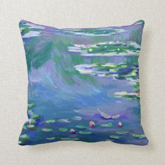 Monet Caulobacter Lilies Pillow