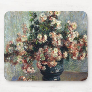 Monet Chrysanthemums Mouse Pad