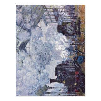 Monet Claude Bahnhof Saint Lazare in Paris Ankun Post Cards