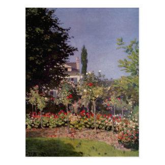 Monet, Claude Bl?hender Garten in Sainte-Adresse u Postcard