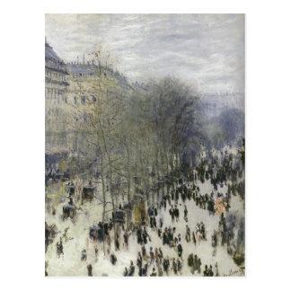Monet, Claude Boulevard des Capucines 1873 Techniq Postcard