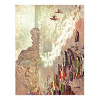 Monet, Claude ?tretat, der Strand und La Porte d'A Postcard