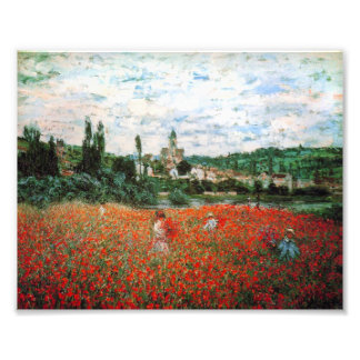 Monet Field of Red Poppies Photograph