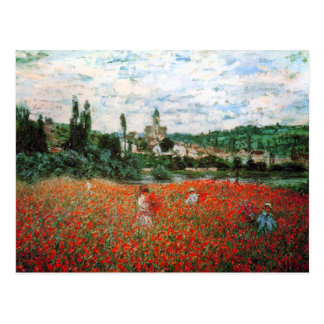 Monet Field of Red Poppies Postcard